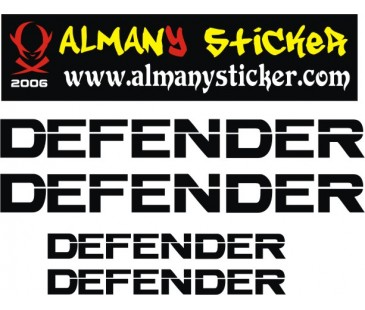 Defender Sticker Set