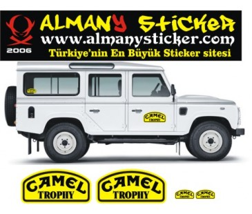 Defender camel trophy sticker