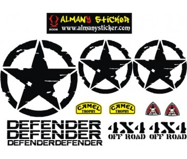 Defender sticker set-2