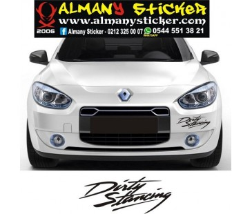 Dirty stancing sticker,fluence sticker,oto sticker