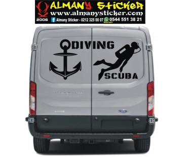 Diving Scuba Sticker,minibüs sticker,oto sticker,yazı