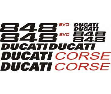 Ducati 848 evo sticker set