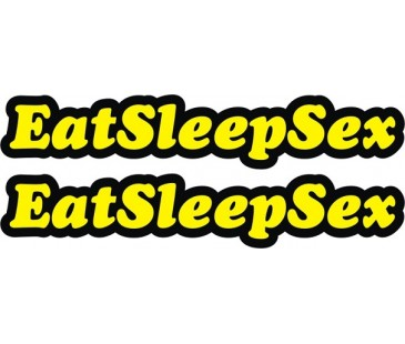 Eat sleep sticker