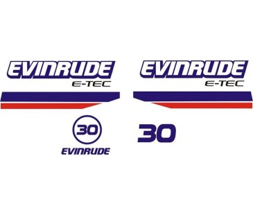 Evinrude 30hp sticker,tekne motoru sticker