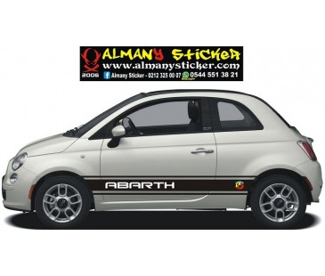 Fiat 500 marşbiyel üzeri sticker,fiat sticker,oto sticker-1,abarth sticker