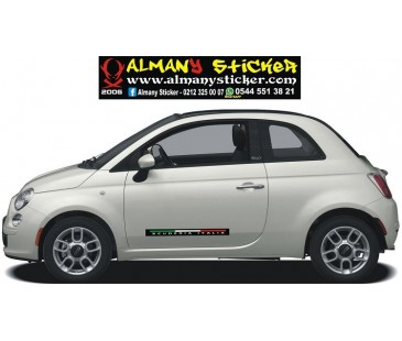 Fiat 500 scuderia italy sticker set