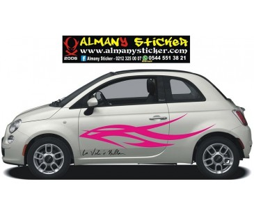 Fiat 500 women sticker