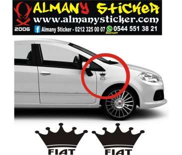 Fiat sticker,linea sticker,sinyal üzeri sticker