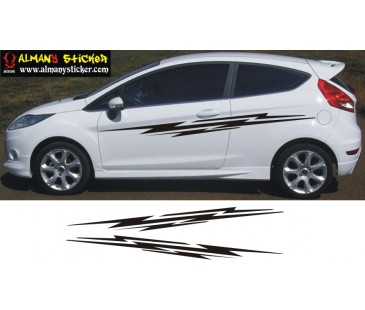 Ford Fiesta şerit sticker,-1