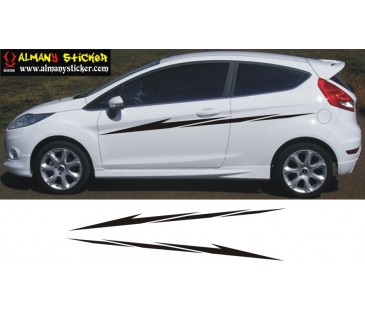 Ford Fiesta şerit sticker-2