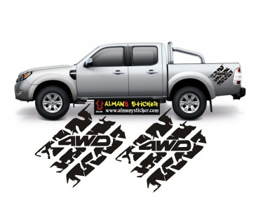 Ford Ranger lastik izi sticker