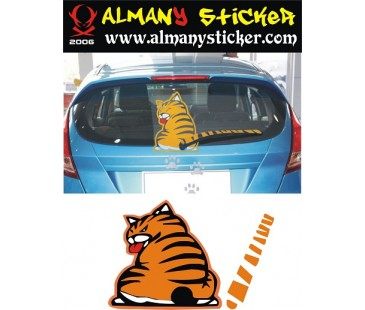 Garfield sticker,oto sticker,motosiklet sticker