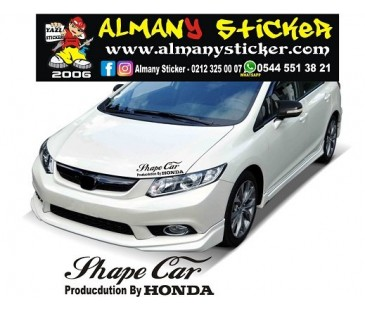 HONDA FAR ÜZERİ STİCKER,SHAPE CAR ( ŞEKİL ARAÇ) STİCKER