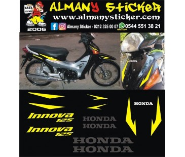 HONDA İNNOVA STİCKER SET, SİYAH