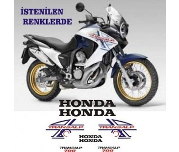 HONDA TRANSALP STİCKER SET