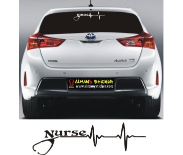Hemşire Sticker,Nurse sticker-1,arabada hemşire var sticker