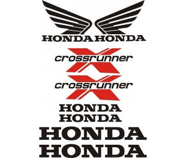 Honda Crossrunner sticker set,motosiklet sticker
