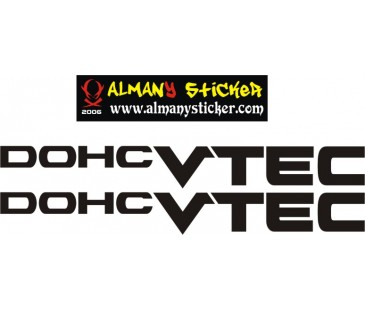 Honda Dohc vtec sticker,honda sticker,oto sticker