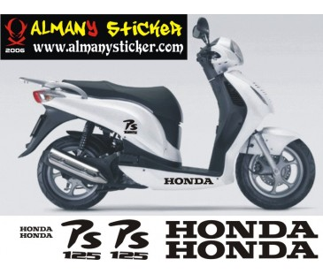 Honda Ps 125 Sticker Set