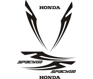 Honda Spacy110 sticker set