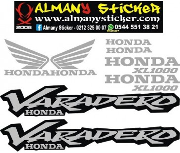 Honda Varadero 1000xl sticker set,varadero sticker,motosiklet sticker