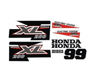 Honda XL200 Sticker set