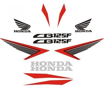 Honda cb125f sticker set