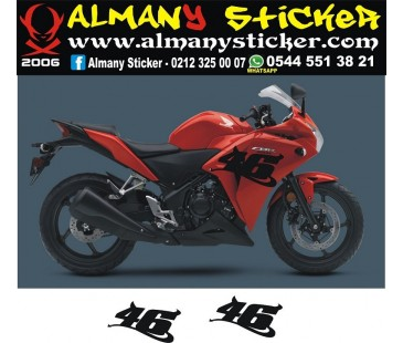 Honda cbr250,125 46 sticker
