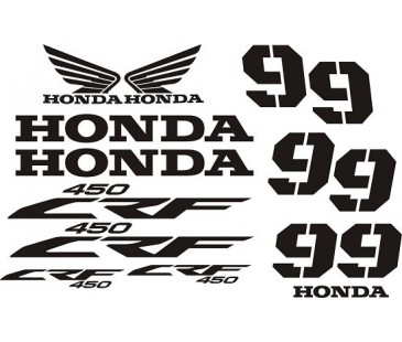 Honda crf 450 sticker set