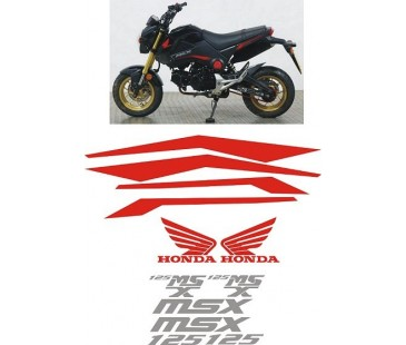 Honda msx sticker set-2