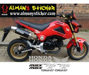 Honda msx sticker set
