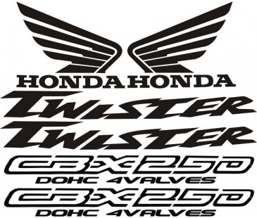 Honda twister 250 sticker set
