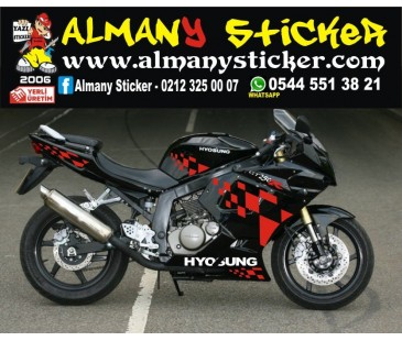 Hyosung Gtr 250 Sticker Set,dama sticker,hyosung sticker