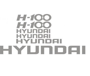 Hyundai H100 sticker set