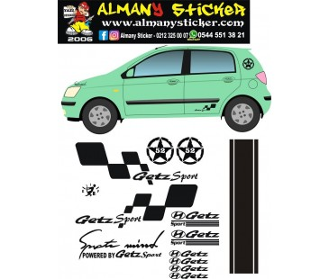 Hyundai getz sticker set