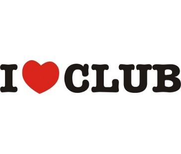 I Love Club Sticker