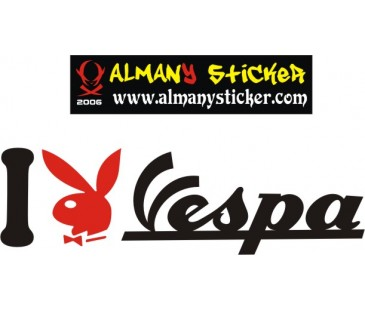 I playboy vespa sticker