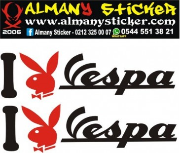 I playboy vespa,vespa sticker,motosiklet sticker,playboy sticker