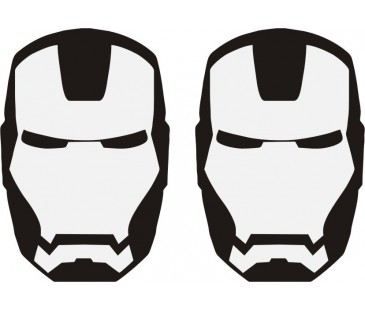 Iron man sticker set