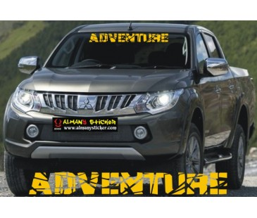 Jeep Adventure Ön Cam Sticker,jeep Sticker
