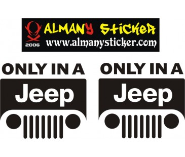 Jeep sticker,off road sticker,only a jeep sticker