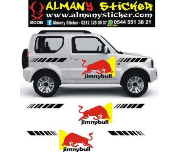 Jimny Sticker,boğa sticker,jeep sticker,off road sticker