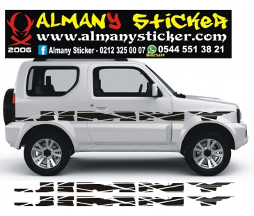 Jimny Yan Sticker set,JİMNY STİCKER,JEEP STİCKER