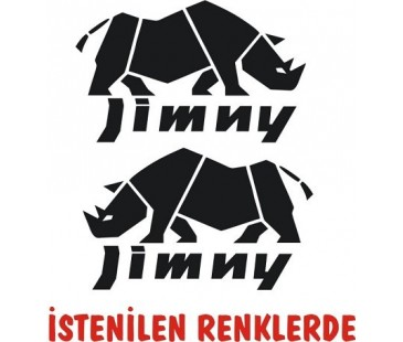 Jinmy gergedan sticker,gergedan sticker