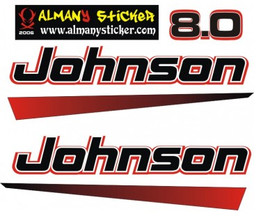 Johnson 8.0 Sticker,tekne motoru sticker
