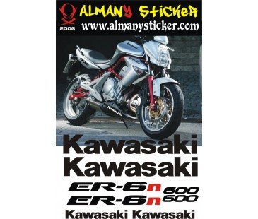 Kawasaki ER6n Sticker Set