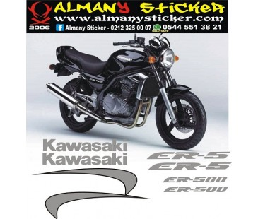 Kawasaki er5 sticker set,motosiklet sticker