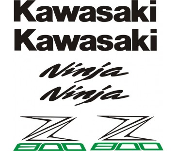 Kawasaki z800 sticker set,Motosiklet sticker