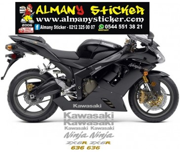 Kawasaki zx6 636 sticker set,motosiklet sticker