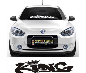 King Sticker,oto sticker,ön cam sticker